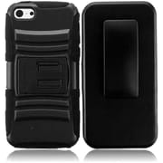 Insten For iPhone Lite Waterproof Cover holster Case with Stand - Black +Black3