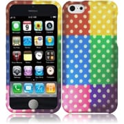 Insten For iPhone Lite iphone 5C Hard Rubberized Design Case - Colorful Polka