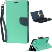 Insten Diary Leather Wallet Flip Card Pocket Stand Case Cover For ZTE Lever LTE - Teal/Blue