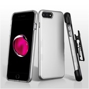 Insten Hard Dual Layer TPU Case For Apple iPhone 7 Plus - Silver