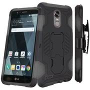 Insten SuperCoil Hybrid Premium Dual Layer Kickstand Holster Case For LG Stylo 3 / Stylo 3 Plus - Black/Grey