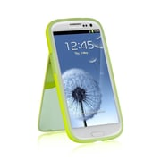 Insten Flip Mirror Stand Card TPU Rubber Gel Skin Back Case For Samsung Galaxy S3 - Green