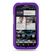 Insten Premium TPU Rubber Skin Gel Back Shell Case Cover For Motorola Photon 4G - Purple