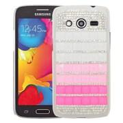 Insten Checker Hard Diamante Cover Case For Samsung Galaxy Avant - Hot Pink/Pink