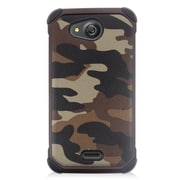Insten Camouflage Hard Hybrid Dual Layer Case For Kyocera Hydro Wave - Brown