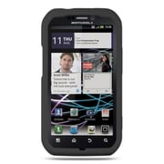 Insten Premium TPU Rubber Skin Gel Back Shell Case Cover For Motorola Photon 4G - Black