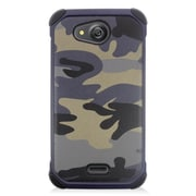 Insten Camouflage Hard Hybrid Rubber Silicone Case For Kyocera Hydro Wave - Gray