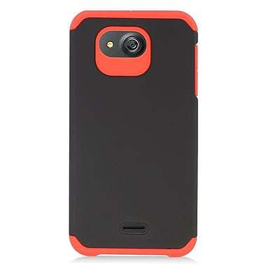 Insten Hard Dual Layer Rubber Silicone Cover Case For Kyocera Hydro Wave - Red/Black