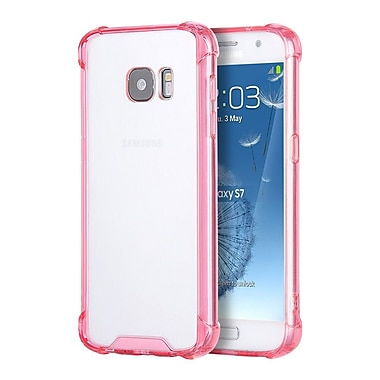 Insten Naked Armor Fusion TPU Candy Skin Rubber Gel Case For Samsung Galaxy S7 - Clear/Hot Pink