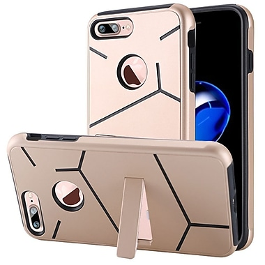 Insten Hard Dual Layer TPU Case w/stand For Apple iPhone 7 Plus - Gold/Black