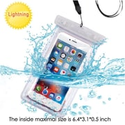 Insten Universal Transparent Lightning Waterproof Bag Phone Case with Lanyard - Clear