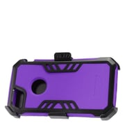 Insten Hybrid Hard Silicone Dual Layer Protective Case Cover + Holster Clip For Apple iPhone 7 - Purple/Black