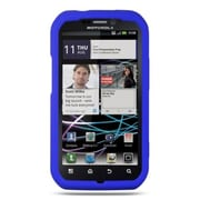 Insten Premium TPU Rubber Skin Gel Back Shell Case Cover For Motorola Photon 4G - Blue