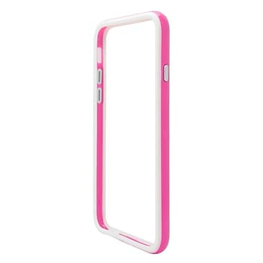 Insten Gel Protective Bumper Case For Apple iPhone 6 / 6s - Hot Pink/White