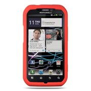 Insten Premium TPU Rubber Skin Gel Back Shell Case Cover For Motorola Photon 4G - Orange