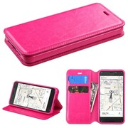 Insten Hot Pink Book Flip PU Leather Stand Cover Wallet Case With Tray For Amazon Fire Phone