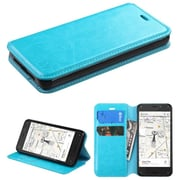 Insten Blue Book Flip PU Leather Stand Cover Wallet Case With Tray For Amazon Fire Phone