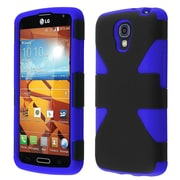 Insten Black+Blue Colorful Hybrid Slim Dynamic Phone Protective Case Cover For LG Volt LS740