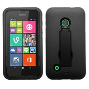 Insten Black Hybrid Rugged Hard Shockproof Symbiosis Stand Case Cover Skin For Nokia Lumia 530