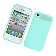 Insten Two-Tone/NightGlow Jelly Hybrid Hard Silicone Case Cover For Apple iPhone 4 / 4S - Mint Green