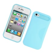 Insten Two-Tone/NightGlow Jelly Hybrid Hard Silicone Case Cover For Apple iPhone 4 / 4S - Blue