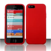 Insten Red Premium Silicone Soft Skin Case Cover For Apple iPhone SE 5