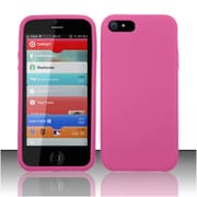 Insten Hot Pink Premium Silicone Soft Skin Case Cover For Apple iPhone SE 5