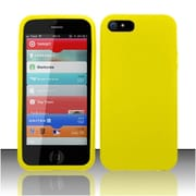 Insten Yellow Premium Silicone Soft Skin Case Cover For Apple iPhone SE 5