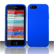 Insten Blue Premium Silicone Soft Skin Case Cover For Apple iPhone SE 5
