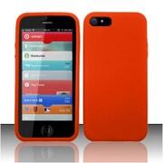 Insten Orange Premium Silicone Soft Skin Case Cover For Apple iPhone SE 5