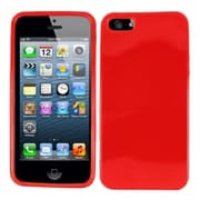Insten Red Plain Plain TPU Soft Gel Skin Case Cover w/ Matte Inside For Apple iPhone SE 5
