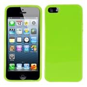 Insten Solid Neon Green Plain Plain TPU Soft Gel Skin Case Cover w/ Matte Inside For Apple iPhone SE 5