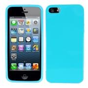 Insten Solid Baby Blue Plain Plain TPU Soft Gel Skin Case Cover w/ Matte Inside For Apple iPhone SE 5