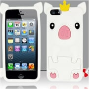 Insten White Pig Silicone Soft Skin Case Cover For Apple iPhone SE 5