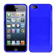 Insten Blue Plain Plain TPU Soft Gel Skin Case Cover w/ Matte Inside For Apple iPhone SE 5