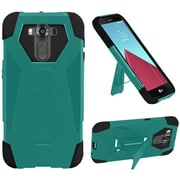 Insten Hard Dual Layer Plastic Silicone Cover Case w/stand For LG G4 Pro - Teal/Black