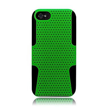 Insten TPU Rubber Hard PC Candy Skin Mesh Case Cover For Apple iPhone 5 / 5S - Green/Black