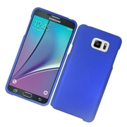 Insten Hard Rubberized Case For Samsung Galaxy Note 5 - Blue