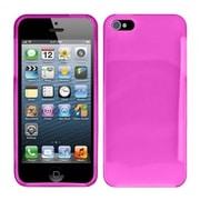 Insten Hot Pink Plain Plain TPU Soft Gel Skin Case Cover w/ Matte Inside For Apple iPhone SE 5