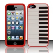 Insten Red Piano Silicone Soft Skin Case Cover For Apple iPhone SE 5
