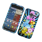 Insten Fireworks Hard Case For Motorola Moto X (1st Gen) - Blue/Colorful