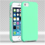 Insten Hard Hybrid TPU Case For Apple iPhone SE / 5 / 5S - Teal
