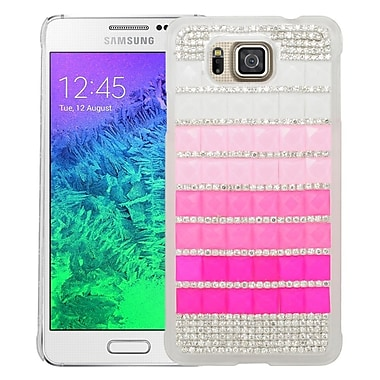 Insten Checker Hard Diamond Cover Case For Samsung Galaxy Alpha - Pink/Hot Pink