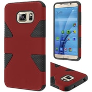 Insten Dynamic Hard Hybrid Rubberized Silicone Cover Case For Samsung Galaxy S7 - Red/Black