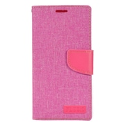 Insten Wallet Leather Fabric Case with Card slot & Photo Display For LG V10 - Pink
