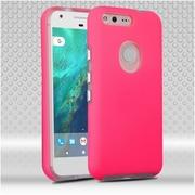Insten Hard Hybrid TPU Case For Google Pixel XL - Hot Pink