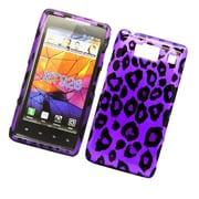 Insten Leopard Hard Case For Motorola Droid Razr HD - Purple