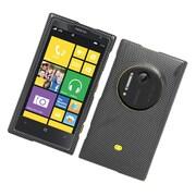 Insten Carbon Fiber Hard Cover Case For Nokia Lumia 1020 - Dark Gray