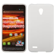 Insten Hard Rubber Coated Case For Alcatel One Touch Conquest - White
