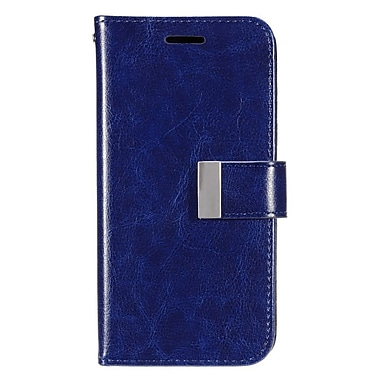 Insten Flip Wallet Leather Case with Card holder & Photo Display For LG G Stylo / G Vista 2 - Dark Blue